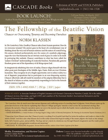 Book Launch: The Fellowship of the Beatific Vision